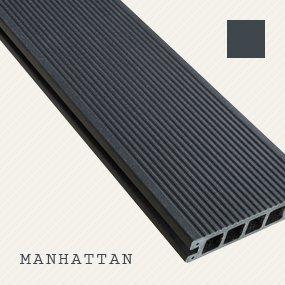 PREWOOD WPC MÜLLTONNENBOX, MÜLLTONNENEINHAUSUNG für 3 x 120l Mülltonne, Manhattan (grau), PERFEKTION IM DETAIL – EXKLUSIV – DIREKT VOM HERSTELLER - 6