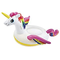 Idea Regalo - Intex 57561 - Cavalcabile Unicorno, Multicolore, 201 x 140 x 97 cm
