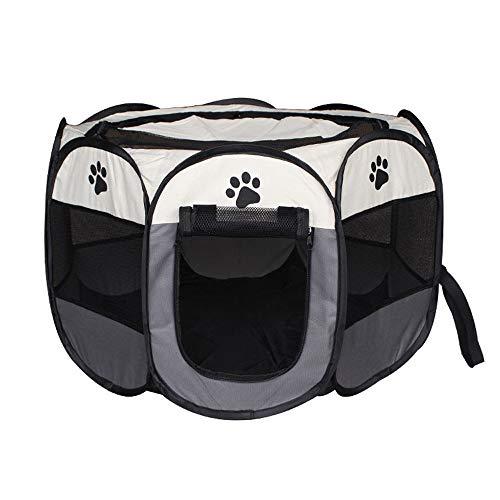 JKRTR Haustier Katze Hund Spielzeug 2019,Zelt Outdoor Zaun tragbare Katze Hund Faltbare Pop Up Camping Zelt Trompete(Multicolor-4,Gefaltet:32x43cm Entfaltet:74x74x43cm) (Website High Monster)