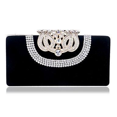 pwne L. In West Woman Fashion Luxus High-Grade Nachgemachte Diamanten Abend Tasche Black