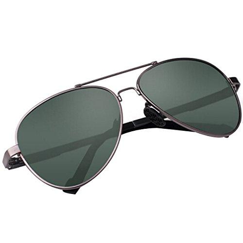 Zhang Yuqi Erweiterte Militärische Pilotenbrille Polarisator Klassischen Stil,DarkGreen
