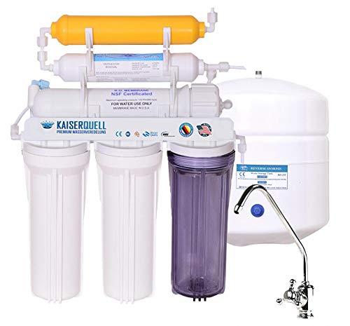 Premium Kaiserquell Wasserfilteranlage handgefertigt in Deutschland 6 stufig Wasserfilter Trinkwasserfilter mineralisiert kalkfreies Trinkwasser MIKROPLASTIK UND PESTIZIDFREI (Chromulus, Vitalisierer) -