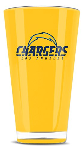 Duck House NFL Los Angeles Chargers Isolierter Trinkbecher aus Acryl, 570 ml Crystal Water Tumbler