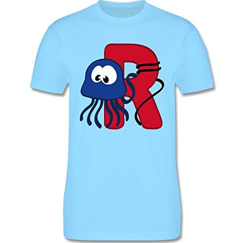 Anfangsbuchstaben - R Schifffahrt - Herren Premium T-Shirt Hellblau