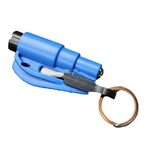 Trousse de premiers soins de voiture Outil de voiture Pièce d'auto gadget de voyage Mini marteau de voiture (Bleu)