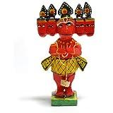 Fantastik - Figura madera dios hindú Hannuman