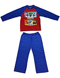 Boys Kids Official Skylander Giants Character Cotton Pyjamas (Blue/Red) 5-6 Years