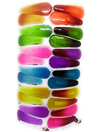 Tic-Tac Hair Clips for Kids, 12 Pairs (24 Pcs), Mix Color