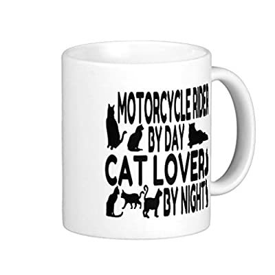 Endingfo Cat Lover Motorcycle Rider Classic White Coffee Mug from Doyime