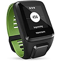 Tom Tom Runner 3 GPS Running Watch with Heart Rate Monitor, Music and Bluetooth Headphone - Small Strap, Black/Green