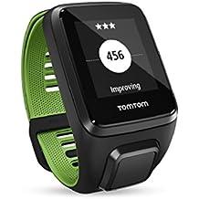 TomTom RUNNER 3 Cardio+Music+Auriculares - Reloj deportivo Negro/Verde (Talla Pequeña)