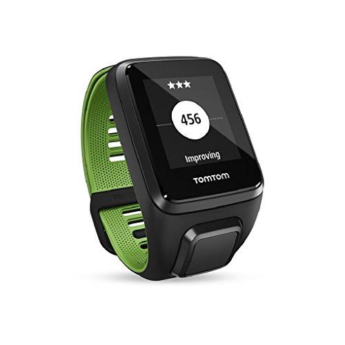 TomTom Runner 3 Cardio + Musik GPS-Sportuhr Inkl. Bluetooth Kopfhörer (Routenfunktion, 3GB Speicherplatz für Musik, Eingebauter Herzfrequenzmesser, Multisport-Modus, 24/7 Aktivitäts-Tracking)