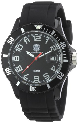 Constantin Durmont Women's Quartz Watch CD-MODL-QZ-RBBK-PCBK-BK with Rubber Strap