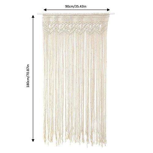 Colgante de Pared de macramé Elegante Hecho a Mano de algodón Tejido Artesanal tapicería para el Fondo de la Boda al Aire Libre Interior Bohemio decoración del hogar