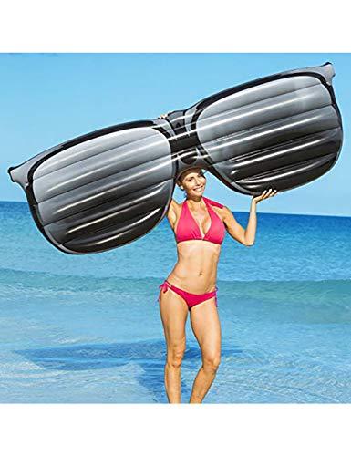 HGHFH Schwimmende Reihe 190Cm Riesige Aufblasbare Sonnenbrille Formt Sich Hin- Und Herbewegende Reihen-Aufblasbare Swimmingpool-Floss-Aufenthaltsraum-Luftmatratze,