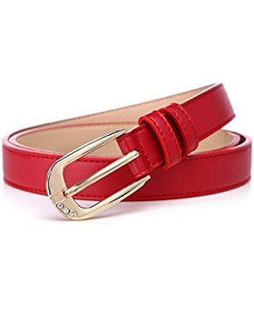 Señoras Distribución Jeans Cinturón,Pin Hebillas Elegante Decoración Simple Estudiante Cinturón