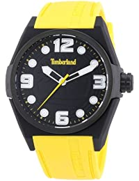 Timberland Radler Unisex Quartz Watch with Black Dial Analogue Display and  Yellow Silicone Strap 13328JPB  1c4528cdfc6