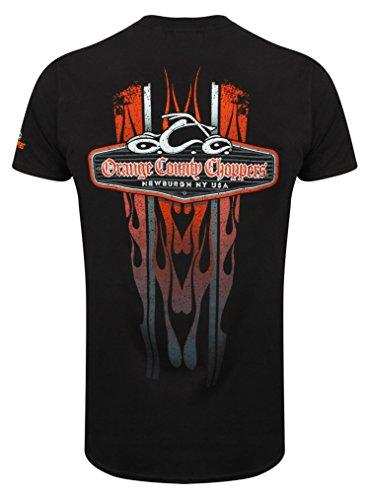 OCC Orange County Choppers T-Shirt Vertical Flame Black-XXL
