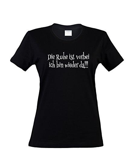 en T-Shirt, Die Ruhe ist vorbei, schwarz, Gr. L (Halloween Ist Vorbei)