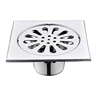 Artbath 2400302F 110*110mm Stainless Steel Shower Drain with Removable Grate Polished Chrome
