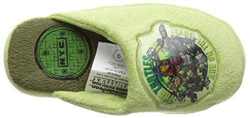 NYC Jungen Ninja Hausschuhe Grün (Grün)