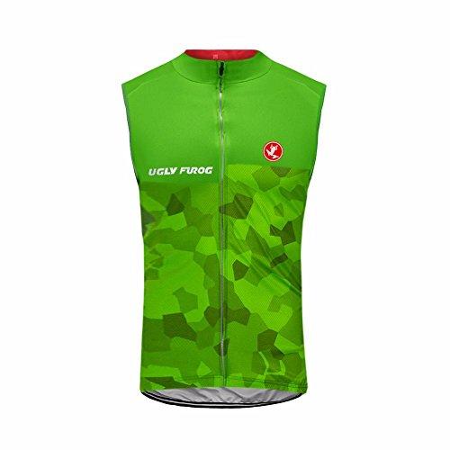 Uglyfrog Damen Sommer Fahrrad Leichte Ärmellose Ultradünne Mantel Jacke Laufen Atmungsaktiv Radfahren MTB Weste Gift for Lady Größe Small