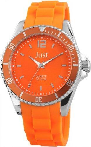 Just Watches 48-S3862-OR - Orologio da polso unisex, cinturino in caucciù colore arancione