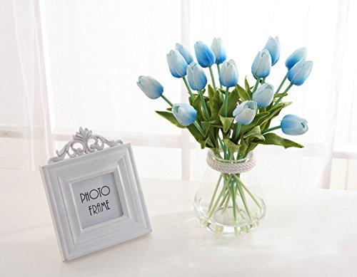 Butterme 10 Stück Real Touch Latex Künstliche Tulpe Blumen Hochzeits Fälschungs Blumen Blumensträuße Garden Decor Valentinstag Geburtstag Weihnachtsgeschenk