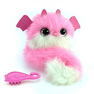 Pomsies Peluche Interactive Dragon Lizzie, 82842, Rosa
