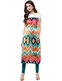 Janasya Women's Multi-Color Casual Crepe Kurti