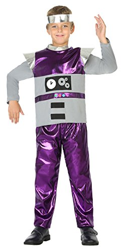 ATOSA 39401 Roboter, Kostüm, Jungen, mehrfarbig, 140 cm (Junge Roboter Kostüm)