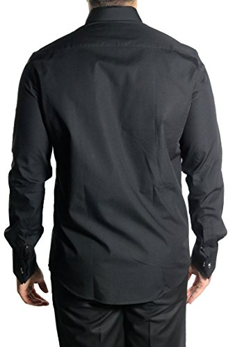 MUGA Homme Chemise Cérémonie poignets français Noir