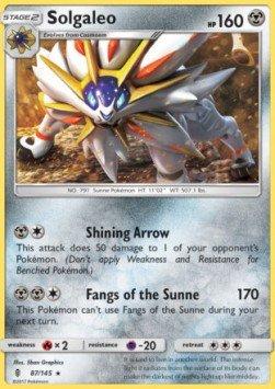 Hot Wheels Pokémon - Solgaleo - 87/145 - Rare - Inglés - Guardians Rising