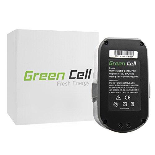 Preisvergleich Produktbild Green Cell® 130254011 Elektrowerkzeug Akku für Ryobi (Panasonic/Sanyo Li-Ion Zellen 5000 mAh 18V)