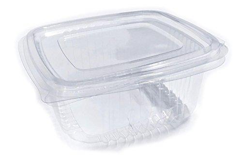 rukauf Einwegbehälter Plastikbehälter/Frischebox 250ml transparent mit Deckel ca. 100 Stück