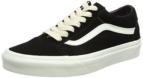 Vans Unisex-Erwachsene Old Skool Suede Sneaker, Schwarz (Herringbone Lace/Black/Marshmallow), 44.5 EU (Schwarz Skateboard-schuh)
