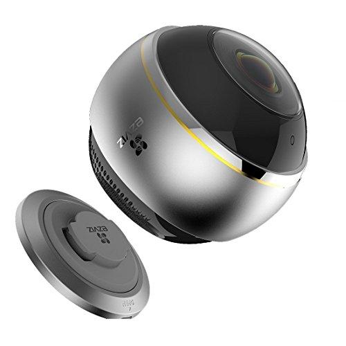 EZVIZ ez360 Pano(Mini Pano), 3 Megapixel WLAN-Fischaugen-Kamera mit Nachtsicht, 360-Grad-/Fischaugen-Panoramaüberwachung, 2/4 Splitscreen, Mikrofon und Lautsprecher, 2.4 Ghz und 5 GHz Dualband-WLAN - 3