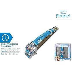 Disney Frozen- Reloj de Pulsera Aloy Corazones Caja Regalo (WD19636), (Kids Licensing 1)