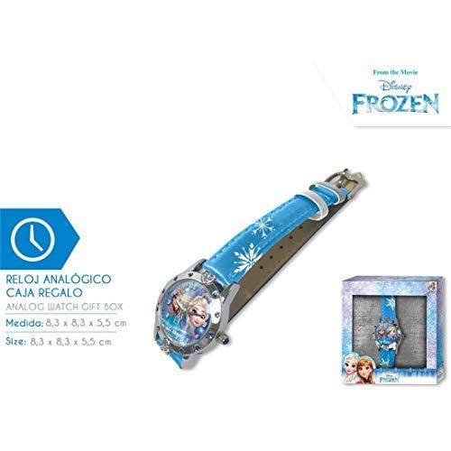 Disney Frozen Reloj de Pulsera Aloy Corazones Caja Regalo WD19636, Multicolor Kids Licensing 1