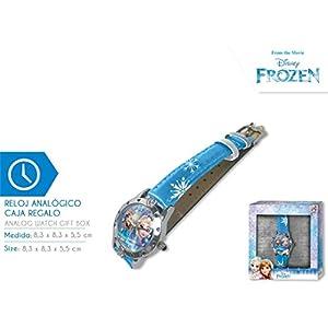 Disney Frozen Reloj de Pulsera Aloy Corazones Caja Regalo (WD19636), Multicolor (Kids Licensing 1)