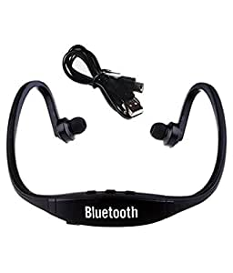 Mobilefit Wireless Bluetooth Headset On-ear Sports Headset Headphones (with Micro Sd Card Slot and FM Radio) BlK Compatible for Oppo R9