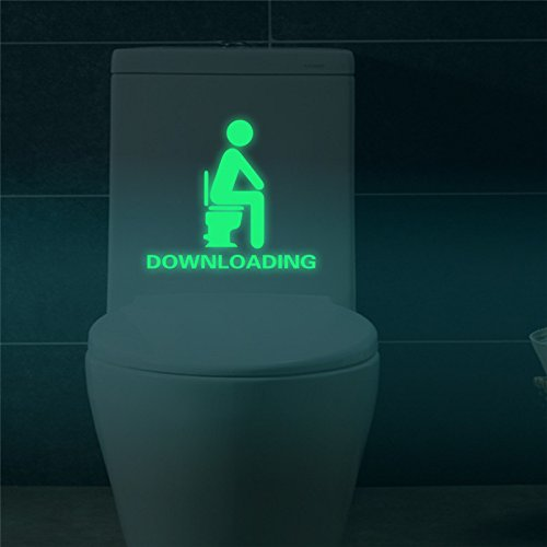 itz Abziehbild Abnehmbares leuchtendes Aufkleber Badezimmer Leuchtstoffwand Aufkleber (Downloading) ()