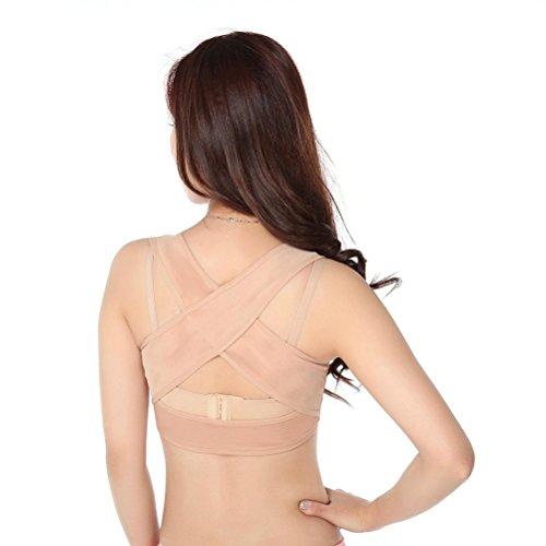 ROSENICE Geradehalter zur Haltungskorrektur Rückenbandage für Haltung Brust BH Unterstützung - Größe XXL (Hautfarbe) -