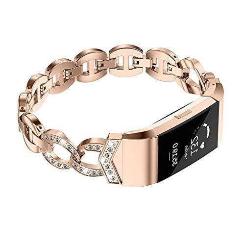 Für Fitbit Blaze Band, wearlizer Milanaise Loop Armbanduhr Band Ersatz mit Metall Rahmen Edelstahl Armband für Fitbit Blaze