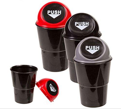 Abfalleimer Tischabfalleimer Mülleimer für ihr Auto 500 ml 3 Stück farbig sortiert