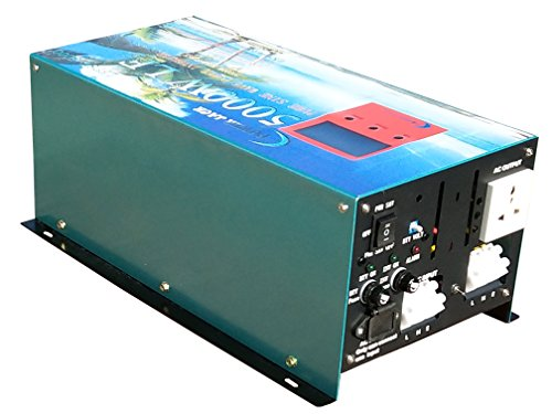 Upgrade Version 20000W PEAK/5000W Spannungswandler Reiner/SINUS Wechselrichter Power inverter dc 12V/ac 230V,80A Ladefunktion,UPS Dc Power Inverter