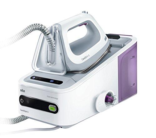 Braun CareStyle5 - Centro de planchado, 2400 W, color blanco y lila