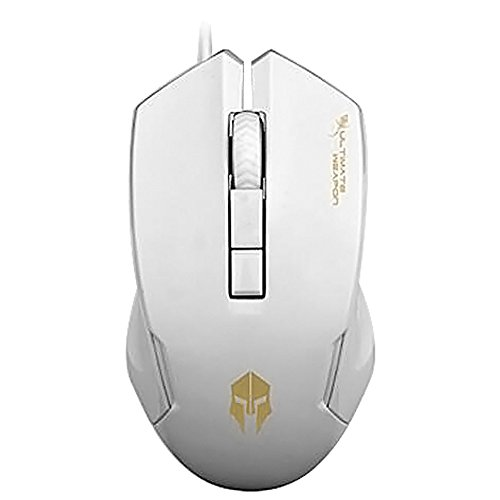 Gaming Maus, fourheart 4Button LED Wired Gaming Maus PC Maus mit 2verstellbaren DPC Level (1000/1600) für Win7/Win8/XP/Vista/OSX–-- weiß