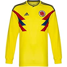 23c18278e adidas 2018-2019 Colombia Home Long Sleeve Football Soccer T-Shirt Camiseta