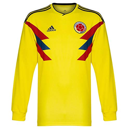 9fdb0b0318d adidas 2018-2019 Colombia Home Long Sleeve Football Soccer T-Shirt Camiseta